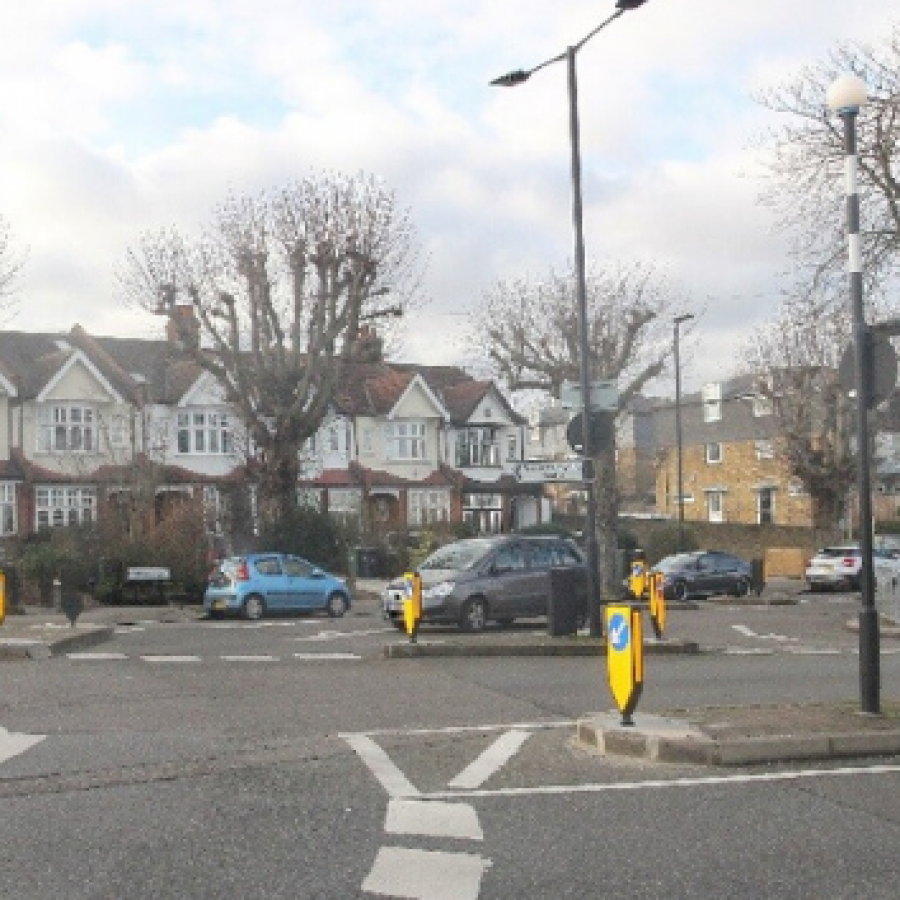Roundabout on Rosendale Road